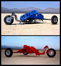Stainless Steel and powder coated Ivanpah kite buggy