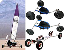 Kite Buggies, Big Foot Buggy, land sailors, land yachts