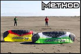 Ozone Method kites waiting to launch