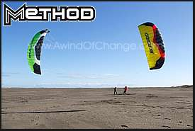 Two Ozone Method Power Kites flying