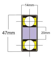 Buggy bearing cross section - 20mm inside diameter
