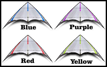 Prism 4-D Super Ultra Light Indoor Kite Colors